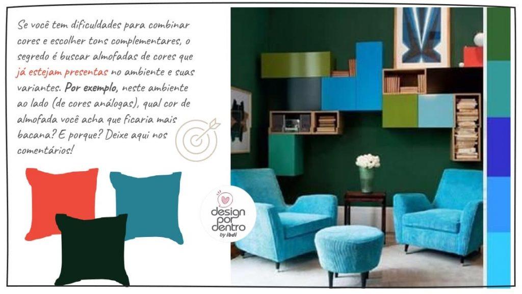 como usar cores nas almofadas decoração