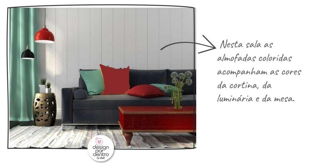 como usar cores sóbrias nas almofadas decoração