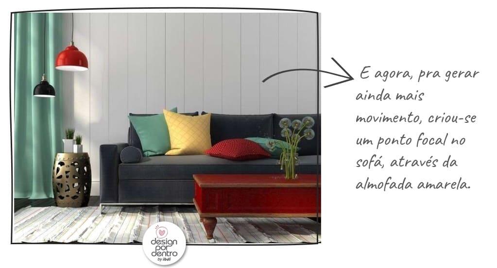 como usar almofadas na decoração de salas