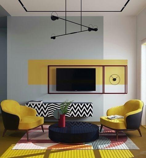 color block na decoração de interiores