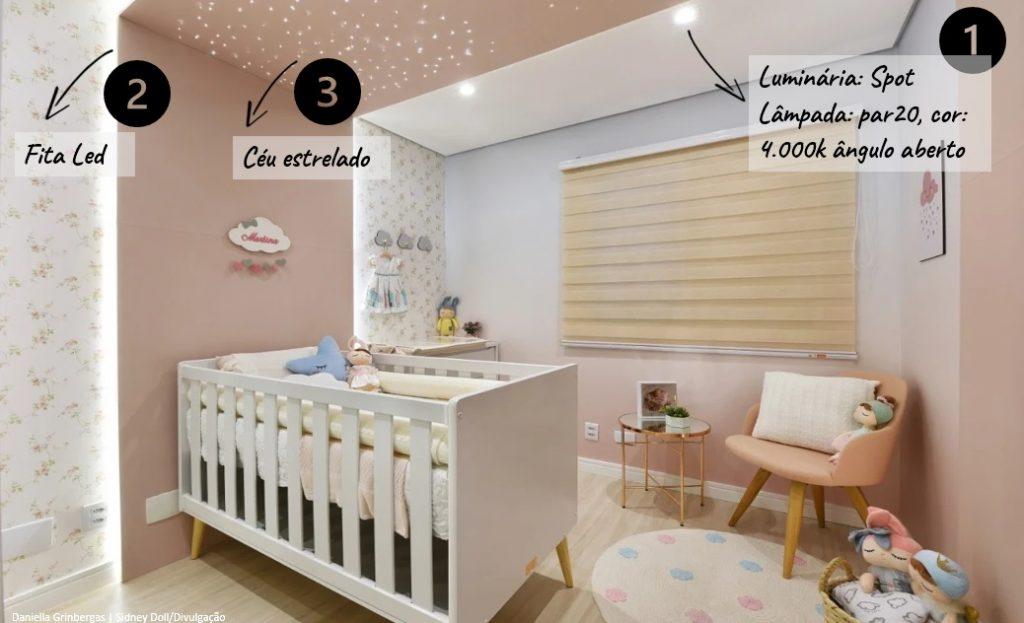 Iluminação bem feita , iluminação quarto de bebê