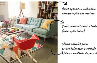 Como as cores de um ambiente influenciam a decoração?