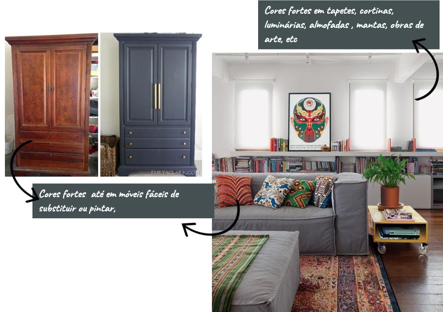 tendências atuais de cores de decoração