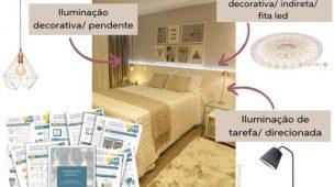 iluminação de quartos