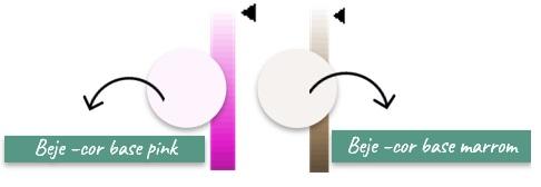 cor base na paleta de cores