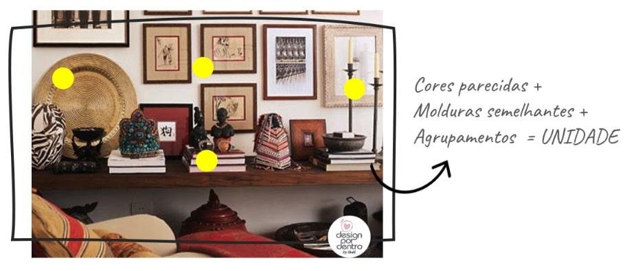 como compor com objetos e adornos decorativos